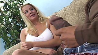 Blonde wife cheats for huge black cock of Blackzilla