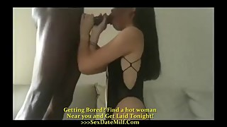 Asian wife cheating with BBC in hotel