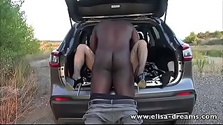 Hotwife gets fucked in her holes by a BBC outdoors