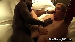 Sexy German Slut Wife Gets Anal Creampied By BBC & Chubby