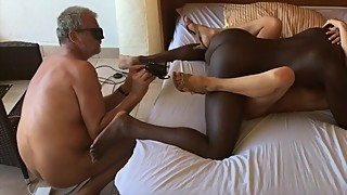 Husband films wife fucking with black boyfriend