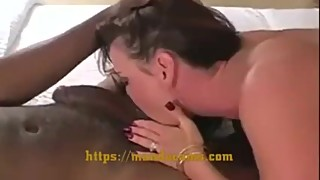 Horny white wife loving BBC