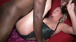 Young wife gets some bbc while cuck hubby films
