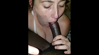 Wife wants me to fuck both of her holes in gagging on my BBC