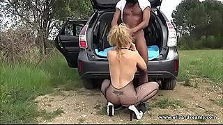 Hotwife gets fucked by a Big Black Cock outdoors (Part1)
