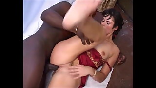 Hot brunette MOM rides BBC