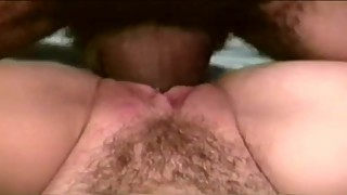 Hubby filming hairy wife