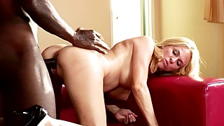 Horny Wife Fucks BBC While Husban