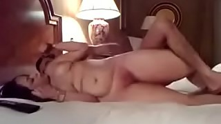 Wife enjoying sex with boss