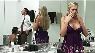 Busty blonde Darcy Tyler blackmails her best friend'_s husband
