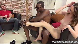 Wife fucks black schlong