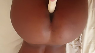 DILDO IN MY AWESOME CHOCLATE WIFEY ASS