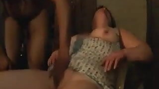 older slutty wife widens her legs for black stud