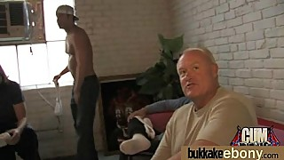 Naughty black wife gang banged by white friends 19
