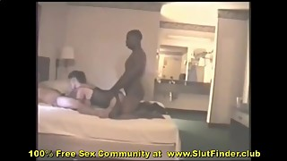 Whore Wife Swallowing Husband While Slammed By Huge Ebony Dick