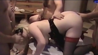 Velvet Swingers Club mature wife fucked passed around BBCs