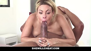 SheWillCheat - Blonde Latina Cuban Wife Loves Fat Black Cock