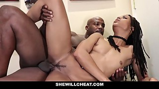 SheWillCheat - Cheating Wife Fucks BBC in Bathroom