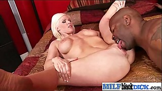 Interracial Sex With Mamba Black Dick In Wet Milf Holes video-09