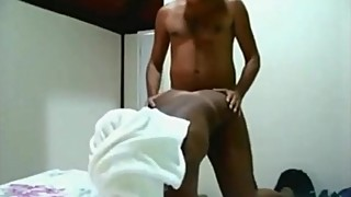 Ebony wife caught on hidden cam with white boy