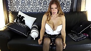 Bombshell Super HOT Latina MOM MILF Nicky Ferrari double dildo