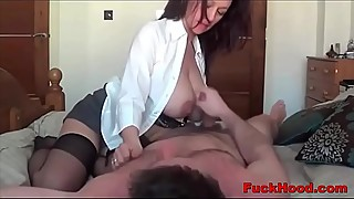 Big Boobs Lactating Milf Titty-Sucked &amp_ Fucked In Her Pussy