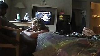 Submissive wife with her black lover 1