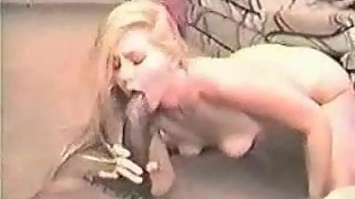 Old VHS Video of Blonde Milf Wife with BBC