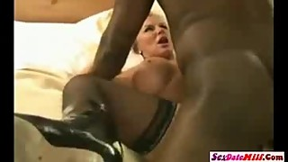 Blonde Slutwife Takes Double BBC Creampie