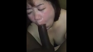 Fat Asian whore wife servicing bbc