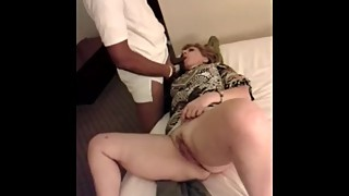 Slut Wife suckas and fucks young Black Guy