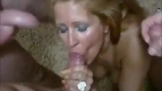 Hot Blond Satifies a few few male friends
