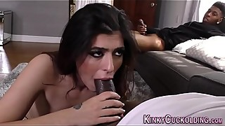 Arab wife sucks black rod
