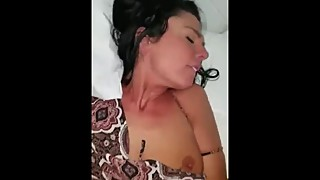Hot Wife Moans Under Big Black Cock